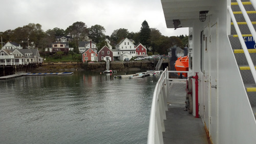 Docking at the town of North Haven