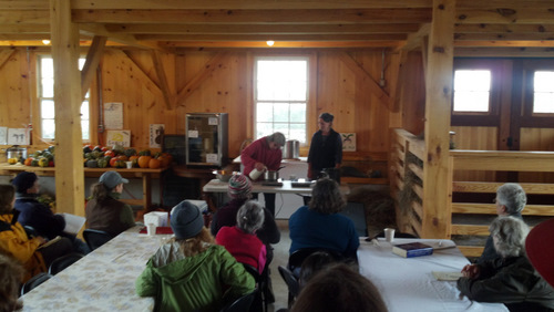 Lactic cheese making demo with Caitlin Hunter and Jamien Shields