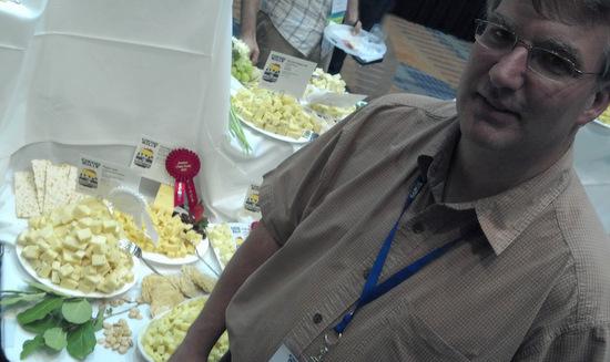 Kevin Burnsteel and Pineland Farms Creamery's award winning Salsa Jack