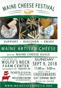 2018 Maine Cheese Festival Poster