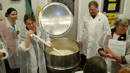 Good times over the cheese vat.