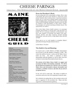 Cheese Parings Newsletter