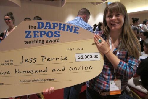 winner of the first Daphne Zepos Teaching Award